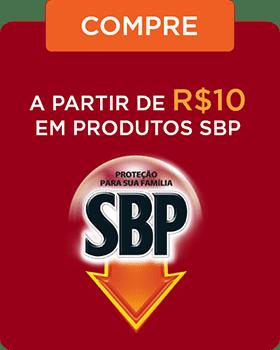 Compre a partir de R$ 10,00 em produtos SBP